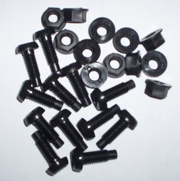 12 Black Plastic Nuts u0026 Bolts  sc 1 st  Chestnut Registrations & Number Plate Accessories Black and silver number plates legal We ...